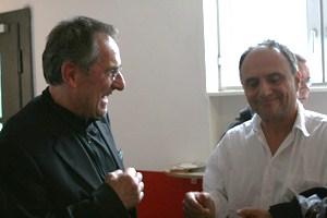 Prof. Dr. Konrad Beyreuther mit Regisseur Christoph Schaub